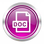 Doc file violet icon — Stock Photo