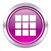 Thumbnails grid violet icon gallery sign — Stock fotografie