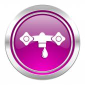 Water violet icon hydraulics sign — Stock Photo