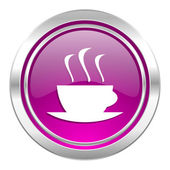 Espresso violet icon hot cup of caffee sign — Stock Photo