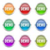 Demo icons set  — Stock Photo