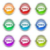 Mms icons set message sign — Foto Stock