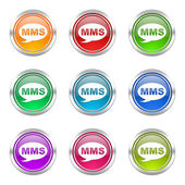 Mms icons set message sign — Stockfoto