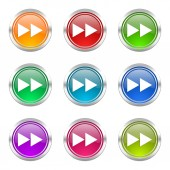 Rewind icons set  — Stock Photo