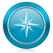 Compass blue icon  — Stock Photo