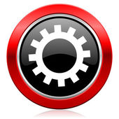 Gears icon options sign — Stok fotoğraf