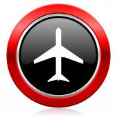 Plane icon airport sign — Stock Photo