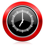 Time icon clock sign — Stock Photo