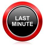 Last minute icon — Stock Photo #62943555