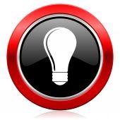 Bulb icon idea sign — Stock Photo