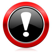 Exclamation sign icon warning sign — Stock Photo