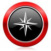 Ikona kompasu — Stock fotografie