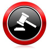 Auction icon court sign verdict symbol — Stock Photo