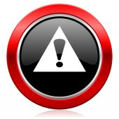 Exclamation sign icon warning sign alert symbol — Stock Photo