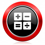 Calculator icon calc sign — Stock Photo