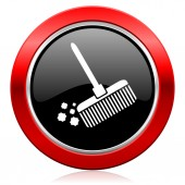 Broom icon clean sign — Stock Photo