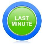 Last minute icon — Stock Photo #63918363
