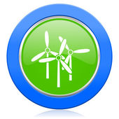 Windmill icon renewable energy sign — Stock Photo