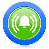 Alarm icon alert sign bell symbol — Stock Photo