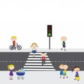 People on the street — Stock Vector