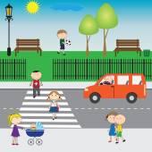 Kids on the street — Stock Vector