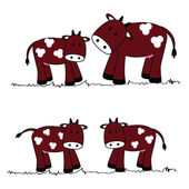 Cute cows — Stock Vector