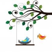 Vögel — Stockvektor