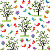 Spring pattern — Stock Vector
