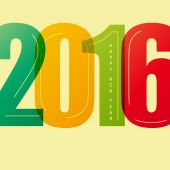 New Year 2016 — Stock Vector