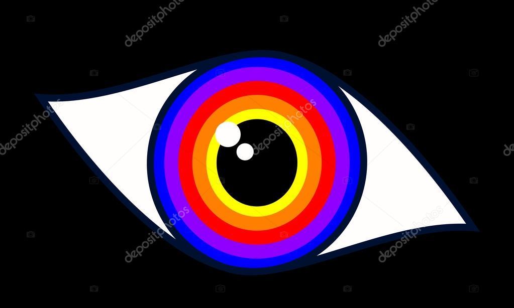 Beautiful Blue Woman Eye Symbol Stockvector Ngaga35 116549854