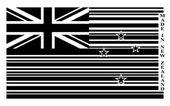 Yeni zelanda barkod bayrağı — Stok Vektör