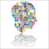 Jigsaw head — Stock Vector