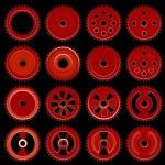 Set of orange gears — Stock Vector #51971039