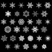 Set of snowflake — Stock Vector
