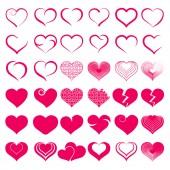 Set of symbol heart — Stock Vector