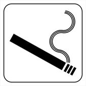 Smoking area symbol — Stock Vector
