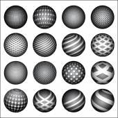 Spheres set — Stock Vector