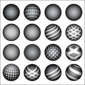 Spheres set — Vettoriale Stock