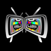 Tv - color test pattern — Stock Vector