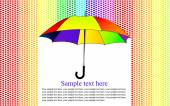 Umbrella in the heart rain — Stockvector