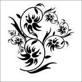 Ensemble floral — Vecteur