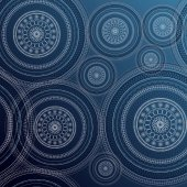 Wallpaper pattern with circles — Stock Vector