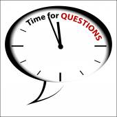 """""""Time to Questions """", — Stock Vector"""