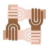 Circlr of hand, chain — Stock Vector