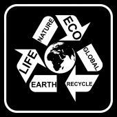 Recycling symbol — Stock Vector