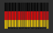 Germany barcode flag — Stock Vector
