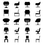 Set of Modern chair — Stock Vector #52079101