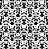 Black white old wallpaper — Stock Vector