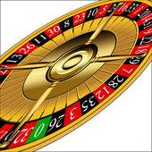 Roulette wheel — Stock Vector