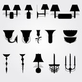 Set luxury wall lamps — Stock Vector